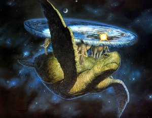 The turtle is called the Great A'Tuin, if you were curious.