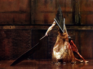 But Pyramid Head still rocks his giant meat cleaver like a boss.