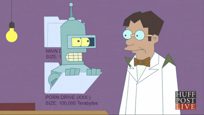 Just be careful when perusing Bender's hard drive for the photographs.