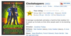 Clockstoppers IMDB