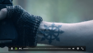 That awkward moment when you have a tattoo suspiciously similar to the Hessian bad guys. (Me, I do. /sigh)