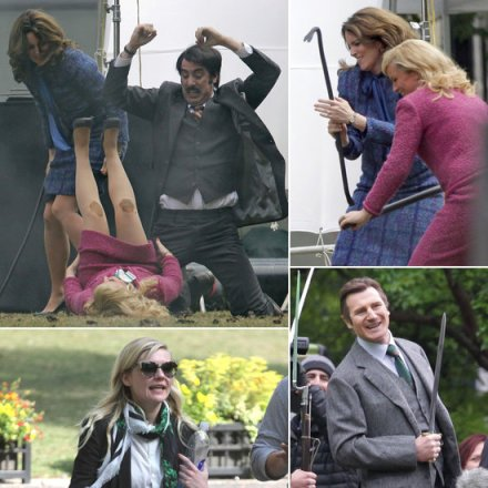 Tina-Fey-Amy-Poehler-Filming-Anchorman-2-Photos