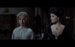 And what would a movie with poorly characterized women be without gratuitous cleavage?