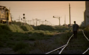 It has melancholy walking on railroad tracks and everything!