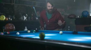 Lord Miller, 20th Century Fox For instance, he's playing pool with sports balls, not people! It's a wild, different world we live in!